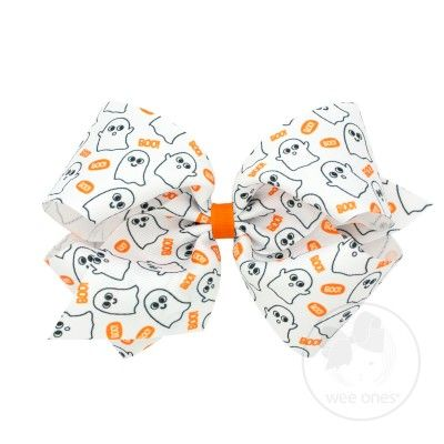 Wee Ones Girls Novelty Hair Bow - Halloween Ghosts