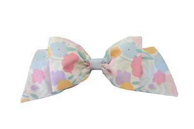 Susanne Lively Girls Hair Bow to Match Dress - Pastel Floral