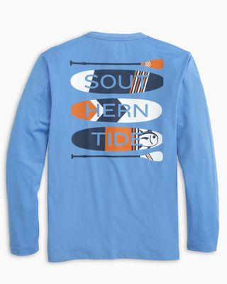 Southern Tide Boys Boat Blue Paddleboard Stack Performance Tee Shirt