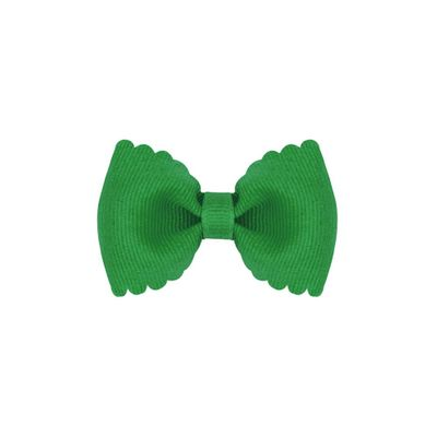 Wee Ones Girls Scallop Edge Bow - Tiny Bow Tie - Green