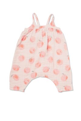 Angel Dear Baby Girls Coral Peachy Muslin Tie Back Romper