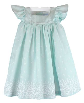 Luli & Me Baby / Toddler Girls Aqua Petal Print Dress