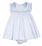 Luli & Me Baby / Toddler Girls Butterfly Dress - Blue