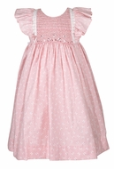 Luli & Me Baby / Toddler Girls Butterfly Smocked Dress - Lace Trim - Pink
