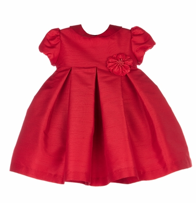 Luli & Me Girls Christmas Red Holiday Party Dress