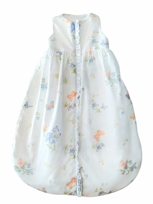 Lulla Smith Wearable Baby Girls Blanket Sleep Sack - Batiste Iris Floral