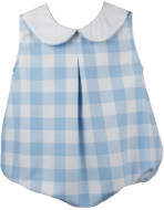 Lullaby Set Baby Boys Collier Bubble - Keep Blooming - Blue Checks