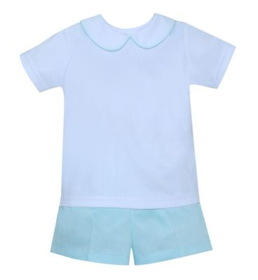 Lullaby Set Baby / Toddler Boys Seafoam Green Peter Short Set
