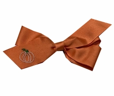 Lullaby Set Girls Hair Bow - Pick of the Patch Pumpkin