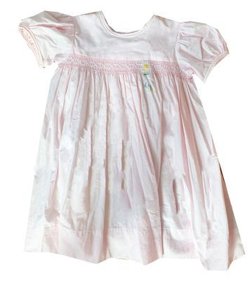 Lullaby Set Girls Pink Maylin Embroidered Unicorn Rainbow Dress