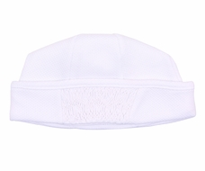 Magnolia Baby Abby and Adam's Classics Girls / Boys Smocked White Hat