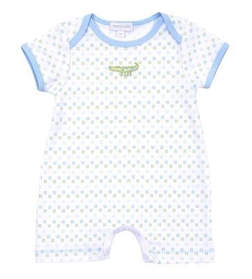 Magnolia Baby Boys Alligator Pie Short Romper Playsuit - Blue