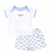 Magnolia Baby Boys Alligator Pie Printed Short Set - Blue