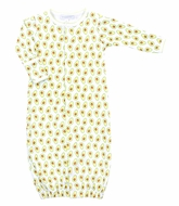Magnolia Baby Boys / Girls Green Avocados Print Converter Gown