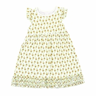 Magnolia Baby LIttle Girls Green Avocados Print Ruffle Dress