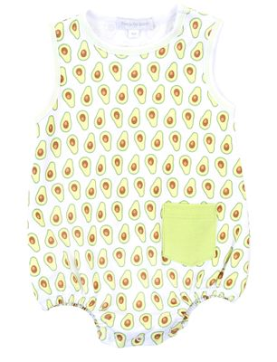 Magnolia Baby Boys Green Avocados Print Sleeveless Bubble - Boy