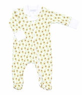 Magnolia Baby Girls / Boys Green Avocados Print Zipped Footie