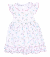 Magnolia Baby Girls Pink Baby Llama Printed Dress Set