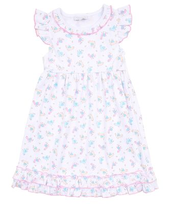 Magnolia Baby Little Girls Pink Baby Llama Printed Dress