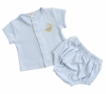 Magnolia Baby Boys Baby Moon Diaper Cover Set - Blue