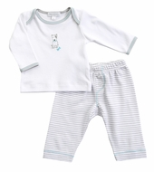 Magnolia Baby Boys Gray Best Buddy Dog Pant Set