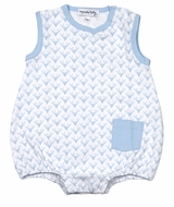 Magnolia Baby Boys Blue Sweet Little Buck Sleeveless Bubble