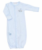 Magnolia Baby Boys Blue Sweet Safari Converter Gown