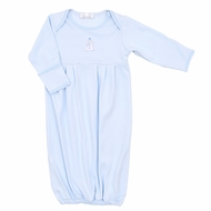 Magnolia Baby Boys Frosty Fun Embroidered Gown - Blue Snowman