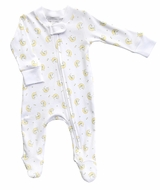 Magnolia Baby Boys / Girls Baby Moon Unisex Zipped Footie - Yellow