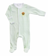 Magnolia Baby Boys / Girls Lil' Turkey Classics Green Check Footie