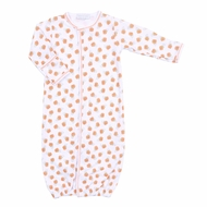 Magnolia Baby Boys / Girls Orange Peek a Boo Halloween Pumpkins Converter Gown