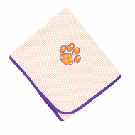 Magnolia Baby Boys / Girls Orange Tigers Paw Receiving Blanket