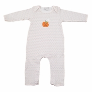 Magnolia Baby Boys / Girls Peek a Boo Applique Halloween Pumpkin Playsuit
