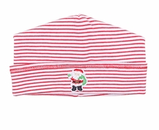 Magnolia Baby Boys / Girls Santa's Helper Embroidered Hat - Red Stripes