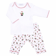 Magnolia Baby Boys / Girls Santa's Helper Printed Pant Set