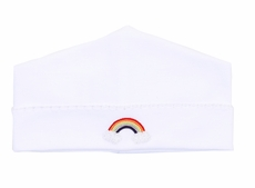 Magnolia Baby Boys / Girls White Rainbow Hat