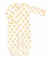 Magnolia Baby Boys / Girls Yellow Sunshine Printed Converter Gown