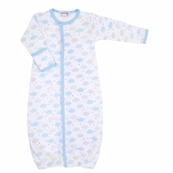 Magnolia Baby Boys My Little Star Clouds Printed Converter Gown - Blue