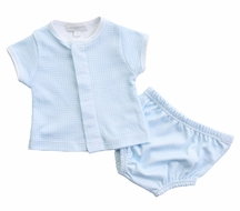 Magnolia Baby Boys Paige and Porter's Classics Diaper Set - Blue Check