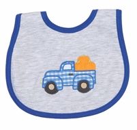 Magnolia Baby Boys Pumpkin Picking Truck Applique Bib