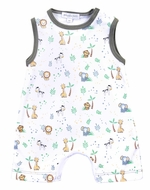 Magnolia Baby Boys Sweet Safari Printed Sleeveless Short Playsuit