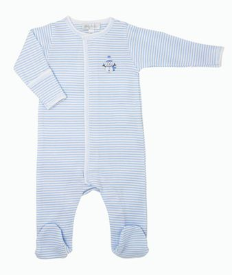 Magnolia Baby Boys Tiny Snowman Embroidered Footie - Blue