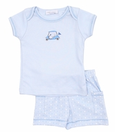 Magnolia Baby Boys To a Tee Blue Golf Short Set