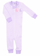 Magnolia Baby / Toddler Girls Easter Bunny Applique Zipped Pajamas - Purple