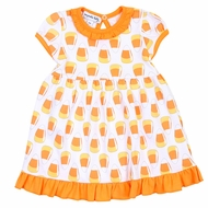 Magnolia Baby Little Girls Halloween Candy Corn Printed Dress