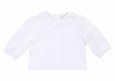 Magnolia Baby Girls White Frill Collar Blouse