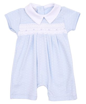 Magnolia Baby Boys Catherine and Caleb's Classics Smocked Playsuit - Blue