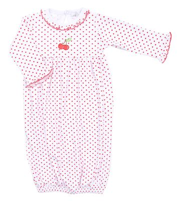 Magnolia Baby Girls Red Cherry on Top Ruffle Gown