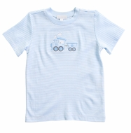 Magnolia Baby Little Boys Blue Choo Choo Applique T-Shirt