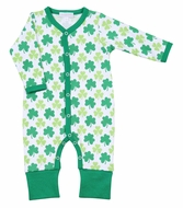 Magnolia Baby Green Clover Printed Playsuit Romper
